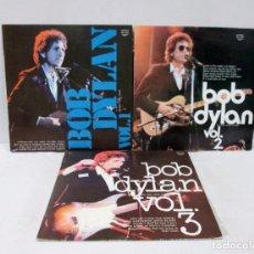 Discos de vinilo: BOB DYLAN - THE LITTLE WHITE WONDER VOL.1+2+3 - LOTE 3 LP - BUHAY 1973 ITALY BHL 8001/2/3 BOOTLEG. Lote 113959819