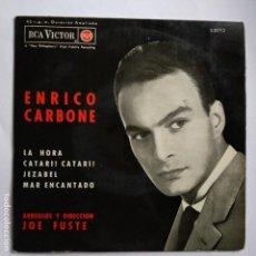 Discos de vinilo: ENRICO CARBONE - LA HORA. Lote 113977755
