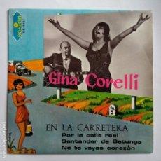 Discos de vinilo: GINA CORELLI - EN LA CARRETERA. Lote 113977811