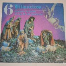 Discos de vinilo: VILLANCICOS Nº 6 (PASTORES DE BELÉN + AL SON DE PANDEROS) *** SINGLE VINILO (1969) *** COLUMBIA ***. Lote 113985187