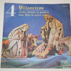 Discos de vinilo: VILLANCICOS Nº 4 (DIME NIÑO DE QUIEN ERES + ZÚMBALE AL PANDERO) *** SINGLE VINILO (1969) ** COLUMBIA. Lote 113985783