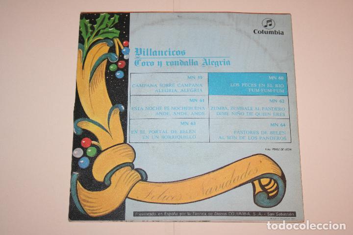 Discos de vinilo: VILLANCICOS nº 2 (Los peces en el río + fum fum) *** SINGLE VINILO (1969) *** COLUMBIA *** - Foto 2 - 113987095