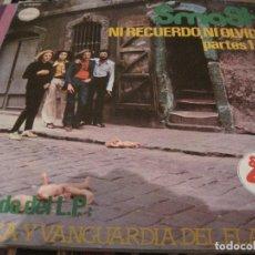 Discos de vinilo: LP- MAXI-SMASH NI RECUERDO NI OLVIDO CHAPA DISCOS 36003 SPAIN 1978. Lote 113991775