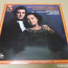 Discos de vinilo: PLACIDO DOMINGO Y MONTSERRAT CABALLE (LP) ESCENAS Y DUOS VARIOS AÑO 1972. Lote 136422526