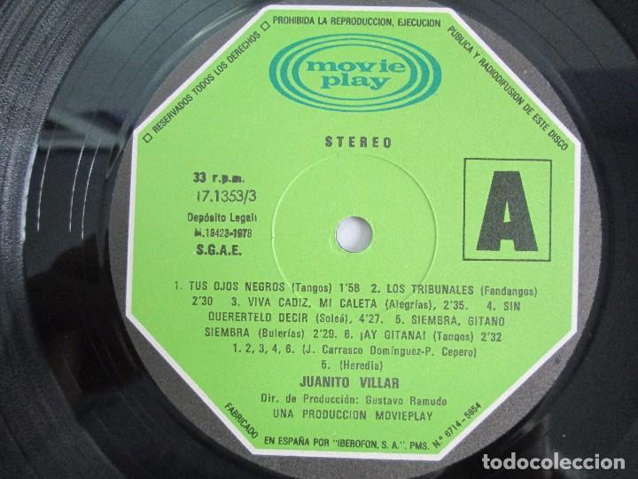 Discos de vinilo: JUANITO VILLAR. LP VINILO. MOVIEPLAY 1978. VER FOTOGRAFIAS ADJUNTAS - Foto 4 - 114002131
