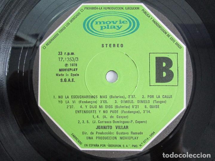 Discos de vinilo: JUANITO VILLAR. LP VINILO. MOVIEPLAY 1978. VER FOTOGRAFIAS ADJUNTAS - Foto 6 - 114002131