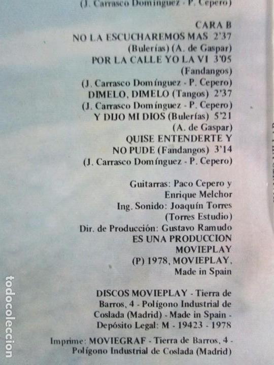 Discos de vinilo: JUANITO VILLAR. LP VINILO. MOVIEPLAY 1978. VER FOTOGRAFIAS ADJUNTAS - Foto 8 - 114002131