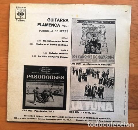 Discos de vinilo: PARRILLA DE JEREZ - GUITARRA FLAMENCA - 1971 - Foto 2 - 114005799