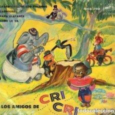Discos de vinilo: FRANCISCO GABILONDO SOLER - LOS AMIGOS DE CRI-CRI (EP RCA VICTOR MEXICO 1960) . Lote 114011347