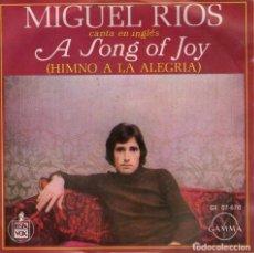 Discos de vinilo: MIGUEL RIOS - EP VINILO 7'' - EDITADO EN MÉXICO / MÉJICO - A SONG OF JOY + 2 - CANTA EN INGLÉS. Lote 114021535