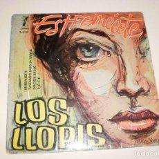 Discos de vinilo: SINGLE LOS LLOPIS. ESTREMÉCETE + 3 TEMAS. ZAFIRO 1960 SPAIN. (DISCO PROBADO Y BIEN). Lote 114035219
