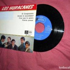 Discos de vinilo: LOS HURACANES - EL CONQUISTADOR + 3 - EP 1966 VER FOTOS. Lote 114036987