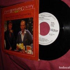 Discos de vinilo: DAVID BOWIE & BIN CROSBY. PEACE ON EARTH/ LITTLE DRUMMER BOY/ FANTASTIC VOYAGE. RCA SPAIN 1977 PROMO. Lote 96255147
