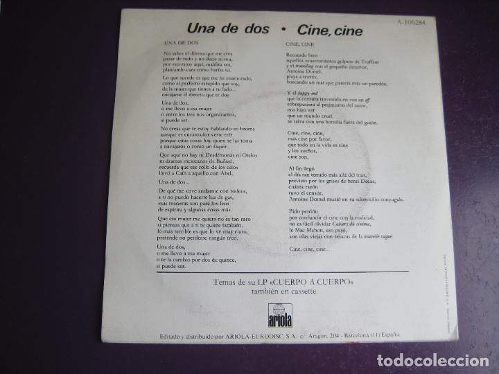 Discos de vinilo: LUIS EDUARDO AUTE Sg ARIOLA 1984 una de dos/ cine cine - Foto 2 - 114045203