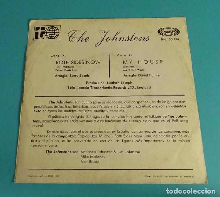 Discos de vinilo: THE JOHNSTONS. BOTH SIDES NOW. MY HOUSE - Foto 2 - 114083079