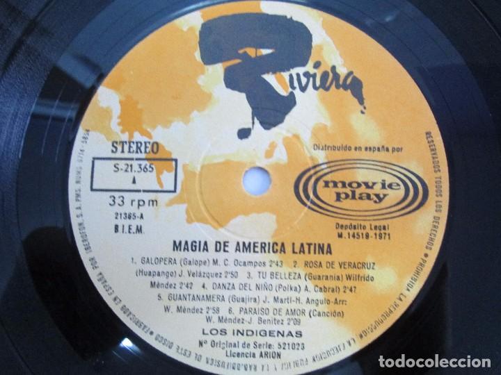 Discos de vinilo: MAGIA DE AMERICA LATINA. LOS INDIGENAS. LP VINILO MOVIEPLAY 1971. VER FOTOGRAFIAS - Foto 4 - 114088671