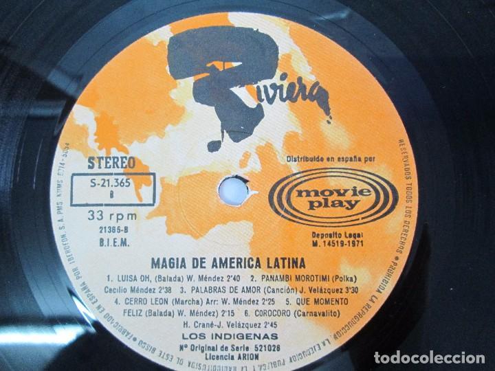 Discos de vinilo: MAGIA DE AMERICA LATINA. LOS INDIGENAS. LP VINILO MOVIEPLAY 1971. VER FOTOGRAFIAS - Foto 6 - 114088671