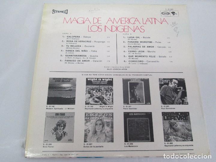 Discos de vinilo: MAGIA DE AMERICA LATINA. LOS INDIGENAS. LP VINILO MOVIEPLAY 1971. VER FOTOGRAFIAS - Foto 9 - 114088671