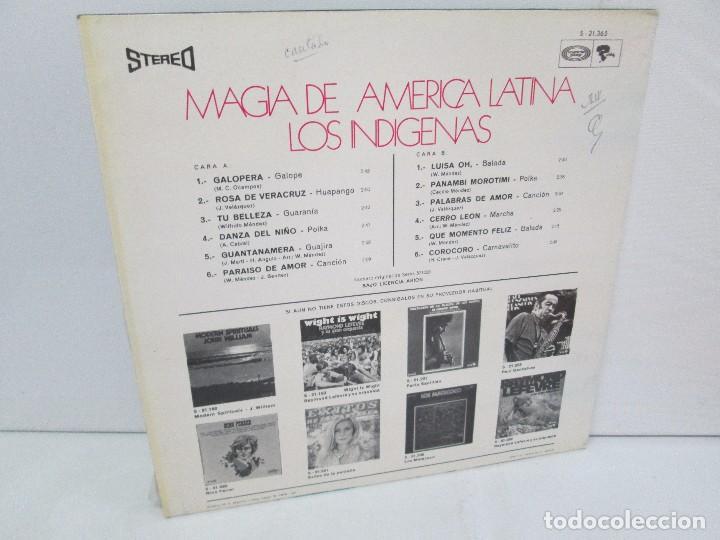 Discos de vinilo: MAGIA DE AMERICA LATINA. LOS INDIGENAS. LP VINILO MOVIEPLAY 1971. VER FOTOGRAFIAS - Foto 10 - 114088671