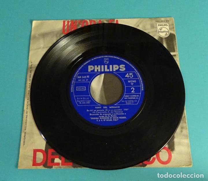 Discos de vinilo: TONY DEL MONACO. UNORA FA. SE CE PECCATO. FESTIVAL DE SANREMO 1969 - Foto 4 - 114091935