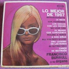 Discos de vinilo: LP - FRANCISCO BURRULL Y SU ORGANO - LO MEJOR DE 1967 (SPAIN, SONOPLAY 1967). Lote 115491322