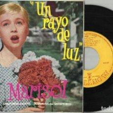 Discos de vinil: MARISOL : UN RAYO DE LUZ EP CORRE CORRE CABALLITO + 3 1960 EN PERFECTO ESTADO. Lote 114107203