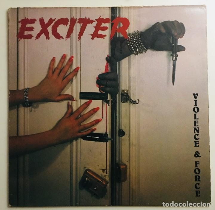 EXCITER  VIOLENCE & FORCE MUSIC FOR NATIONS  MFN-17 LP UK 1984 (Música - Discos - LP Vinilo - Heavy - Metal)