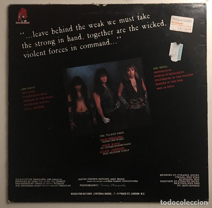 Discos de vinilo: Exciter  Violence & Force Music For Nations  MFN-17 LP UK 1984 - Foto 2 - 114111583