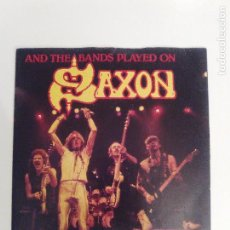 Discos de vinilo: SAXON AND THE BANDS PLAYED ON / HUNGRY YEARS / HEAVY METAL THUNDER ( 1981 CARRERE UK ) . Lote 114113323
