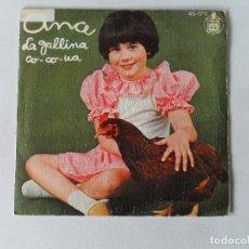 Discos de vinilo: ANA - LA GALLINA CO-CO-UA / EL TRENECITO - SINGLE. Lote 114119695