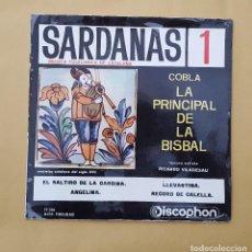 Discos de vinilo: EP - SARDANAS 1 / COBLA LA PRINCIPAL DE LA BISBAL - LLEVANTINA +3 - DISCOPHON 17.134 - 1961. Lote 114126483