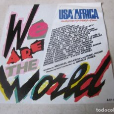 Discos de vinilo: USA FOR AFRICA - WE ARE THE WORLD - CBS 1985. Lote 114130651