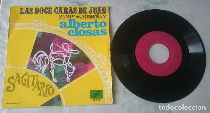 ALBERTO CLOSAS. LAS DOCE CARAS DE JUAN: SAGITARIO (ZAFIRO 1967) (Música - Discos - Singles Vinilo - Bandas Sonoras y Actores)