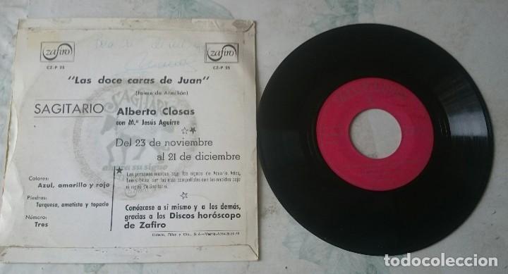 Discos de vinilo: Alberto Closas. Las doce caras de Juan: Sagitario (Zafiro 1967) - Foto 2 - 114130787