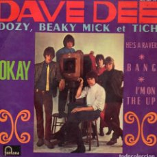 Discos de vinilo: DAVE DEE, DOZY, BEAKY, MICK & TICH, EP, OKAY! + 3, AÑO 1967. Lote 114139871