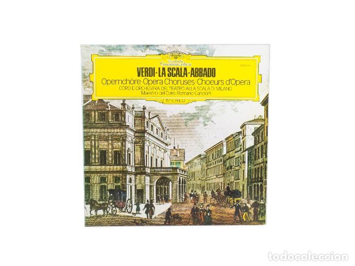 LP. OPERNCHÖRE -OPERA CHORUSES. VERDI LA SCALA ABBADO. (NM-/VG+) (Música - Discos - LP Vinilo - Clásica, Ópera, Zarzuela y Marchas)