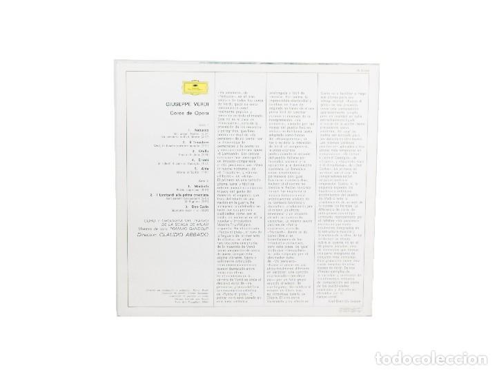 Discos de vinilo: LP. Opernchöre -Opera Choruses. Verdi LA Scala Abbado. (NM-/VG+) - Foto 2 - 114179459