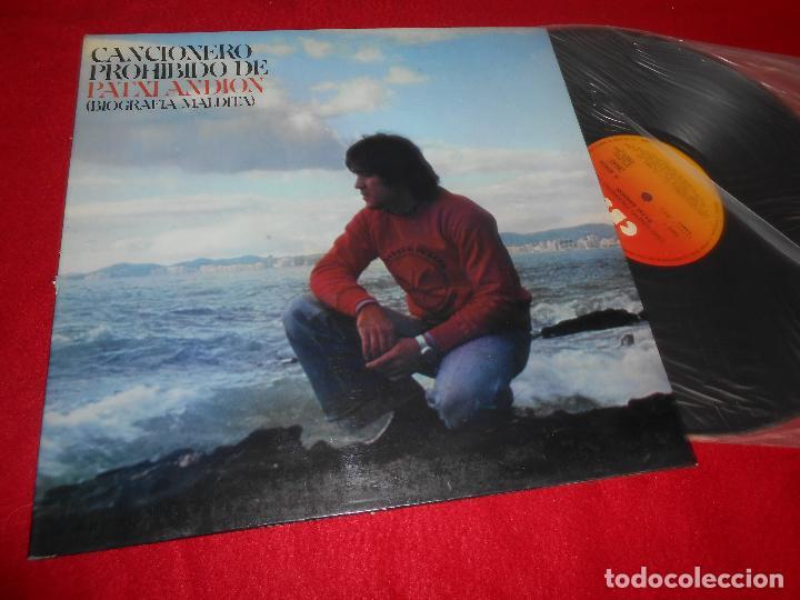 PATXI ANDION CANCIONERO PROHIBIDO (BIOGRAFIA MALDITA) LP 1978 CBS GATEFOLD EDICION ESPAÑOLA SPAIN (Música - Discos - LP Vinilo - Solistas Españoles de los 50 y 60)