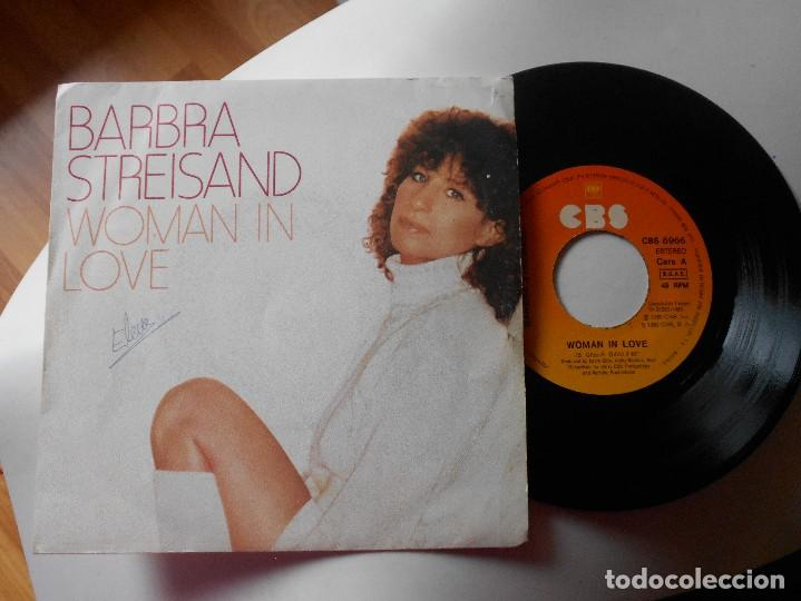 BARBRA STREISAND-SINGLE WOMAN IN LOVE (Música - Discos - Singles Vinilo - Pop - Rock - Extranjero de los 70)