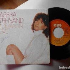 Discos de vinilo: BARBRA STREISAND-SINGLE WOMAN IN LOVE. Lote 114188087