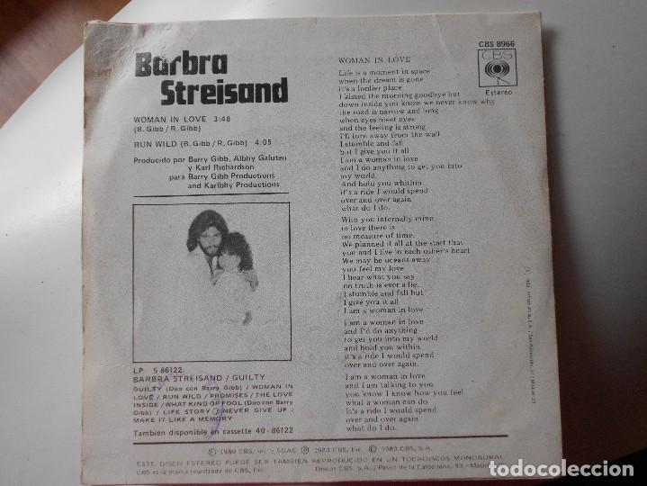 Discos de vinilo: BARBRA STREISAND-SINGLE WOMAN IN LOVE - Foto 2 - 114188087