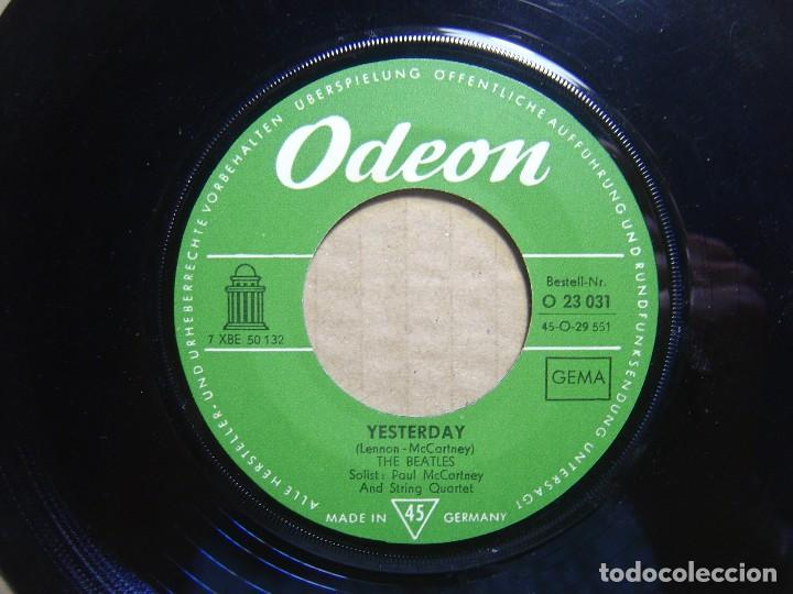 THE BEATLES - YESTERDAY + ACT NATURALLY - SINGLE ALEMAN - ODEON (Música - Discos - Singles Vinilo - Pop - Rock Extranjero de los 50 y 60)