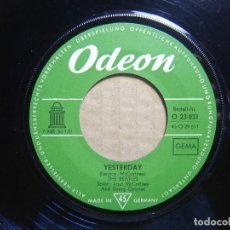 Vinyl records - THE BEATLES - Yesterday + Act naturally - SINGLE ALEMAN - ODEON - 114191923
