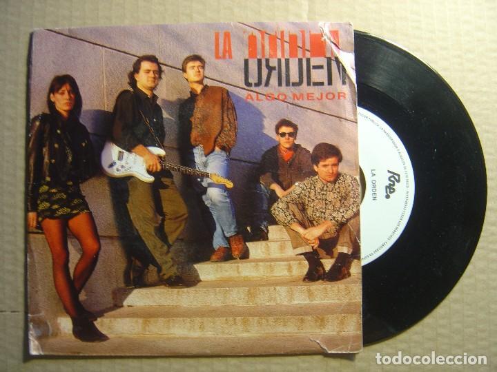 LA ORDEN - ALGO MEJOR - SINGLE PROMOCIONAL 1991 - RNE (Música - Discos - Singles Vinilo - Grupos Españoles de los 90 a la actualidad)