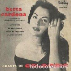 Discos de vinilo: BERTA CARDONA / MICHEL RAMOS Y SU ORQUESTA - CHANTS DE COLOMBIE / BARCLAY (1957) EP VINILO. Lote 114208235