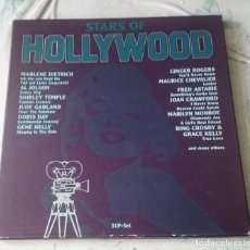 Discos de vinilo: STARS OF HOLLYWOOD. CAJA CON 3 LP'S. 44 CANCIONES (ASTAN 198?). Lote 114226819