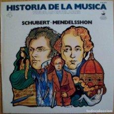 Discos de vinilo: DISCOS (HISTORIA DE LA MUSICA) (04) SCHUBERT / MENDELSSHON. Lote 114256439