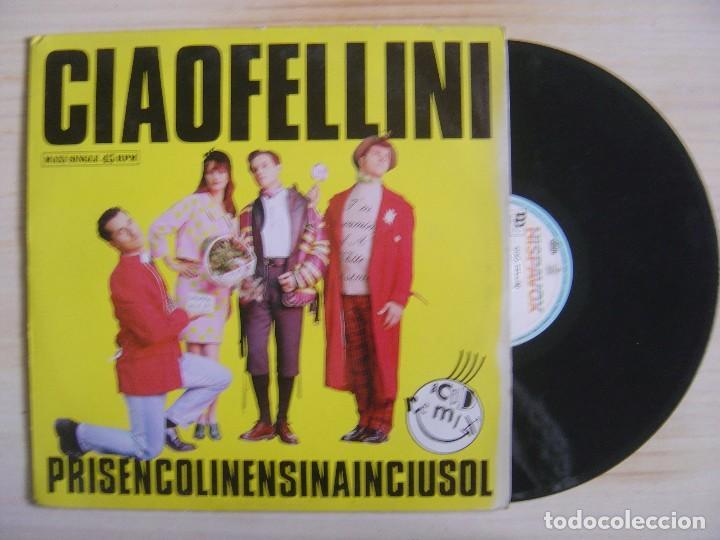 CIAO FELLINI - PRISENCOLINENSINAINCIUSOL (ACID REMIX) - MAXISINGLE 45 ESPAÑOL - 1989 - HISPAVOX (Música - Discos de Vinilo - Maxi Singles - Techno, Trance y House)