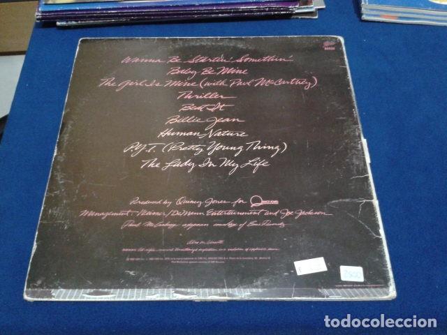 Discos de vinilo: LP VINILO ( MICHAEL JACKSON - THRILLER ) 1982 CBS ESPAÑA DOBLE CARPETA Y ENCARTE CON LAS LETRAS - Foto 3 - 114268475