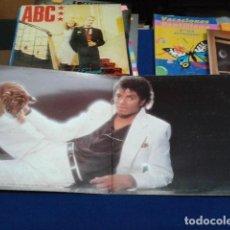 Discos de vinilo: LP VINILO ( MICHAEL JACKSON - THRILLER ) 1982 CBS ESPAÑA DOBLE CARPETA Y ENCARTE CON LAS LETRAS. Lote 114268475